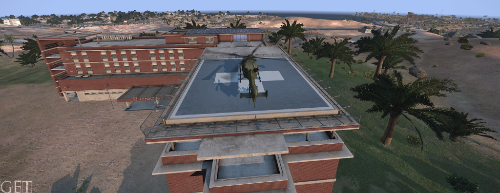 A hospital rooftop landing pad, you know for CQC raids and such.