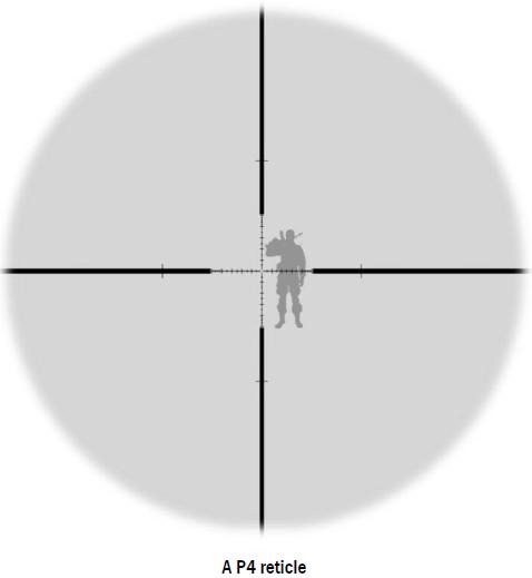 p4 reticle sniper scope